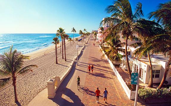 Hollywood Beach Florida Boardwalk